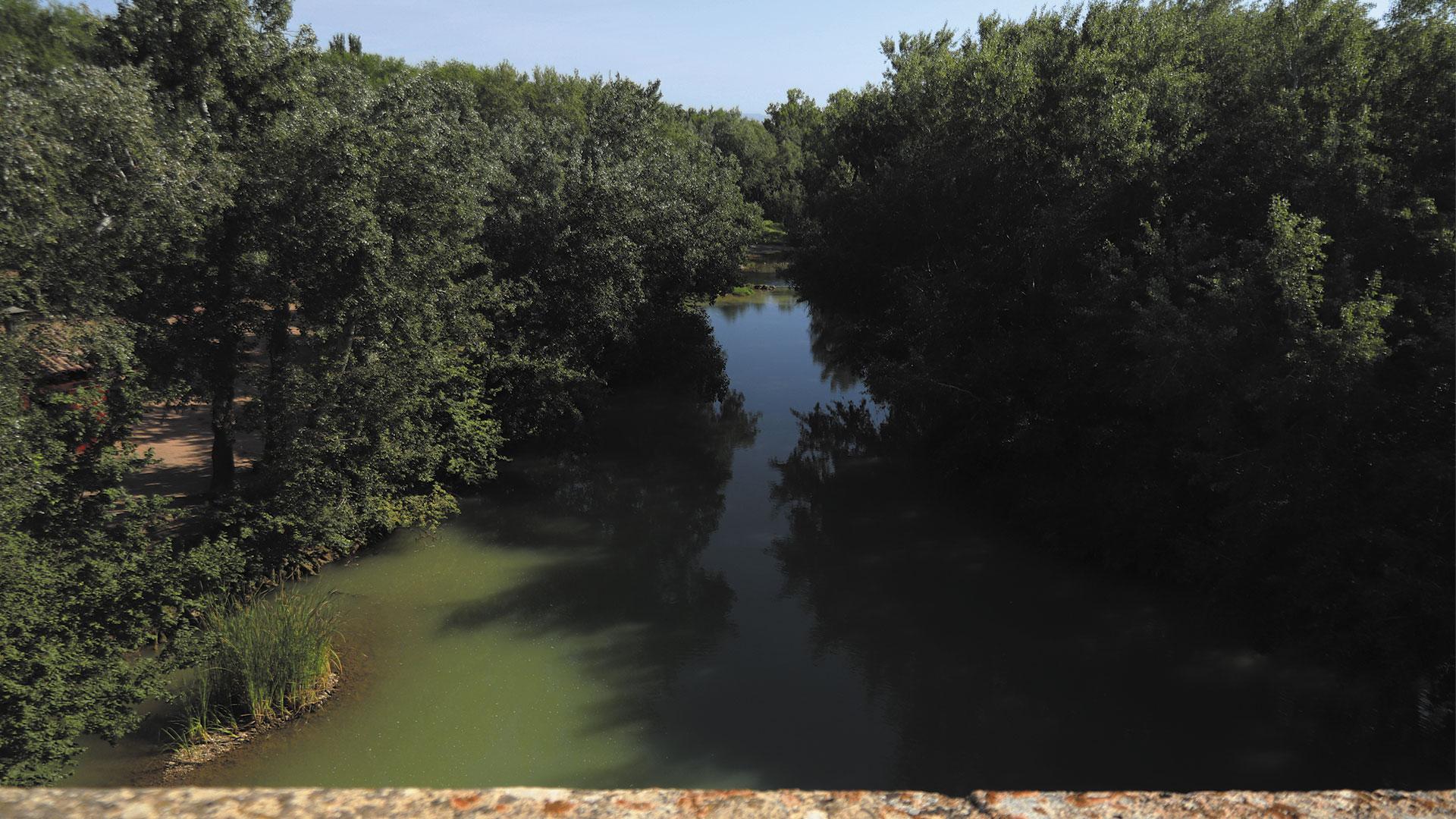 Vista de la flora y el Jalón desde lo alto de las murallas de Grisén
