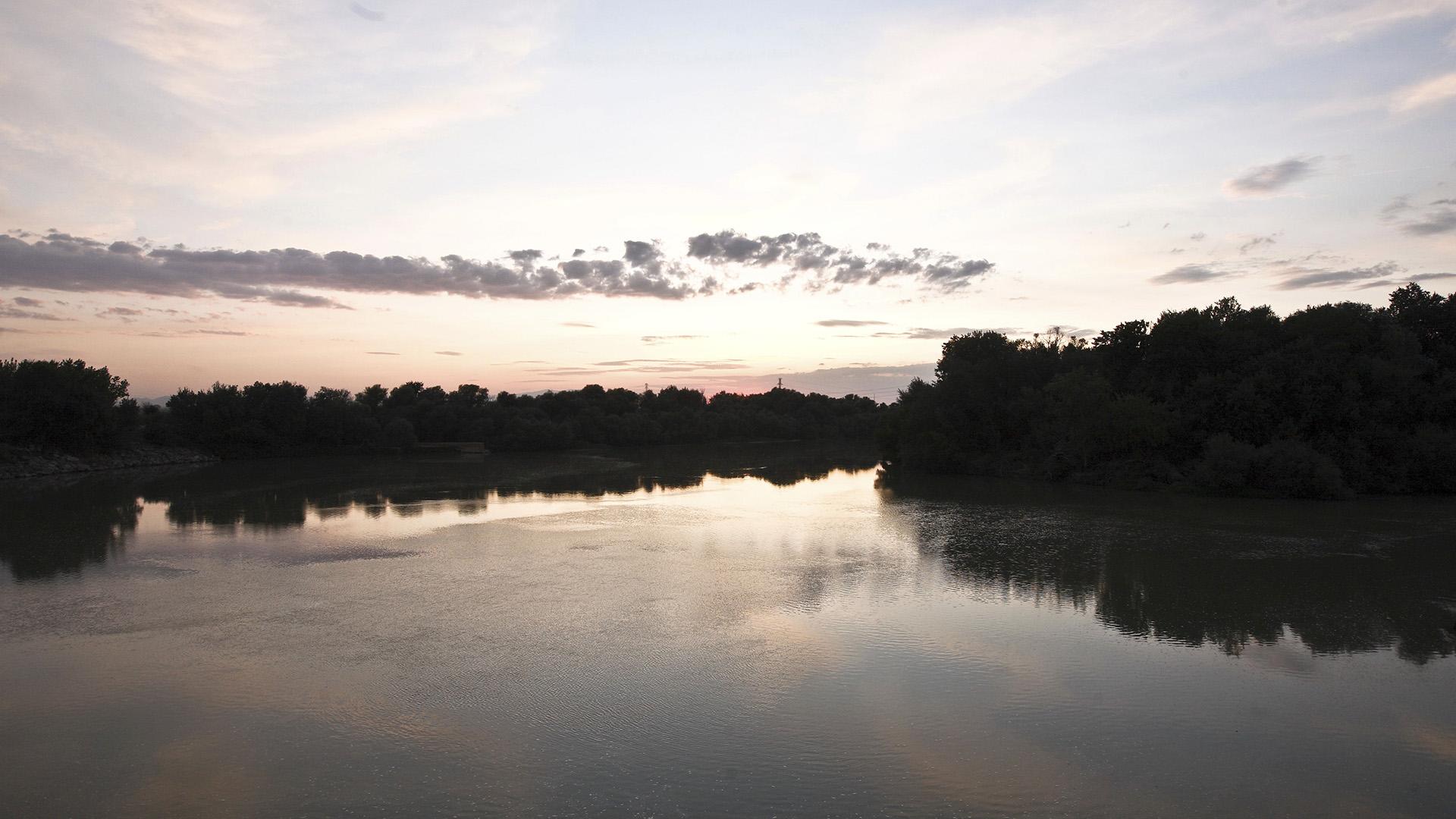 Vista Ebro Cabañas de Ebro