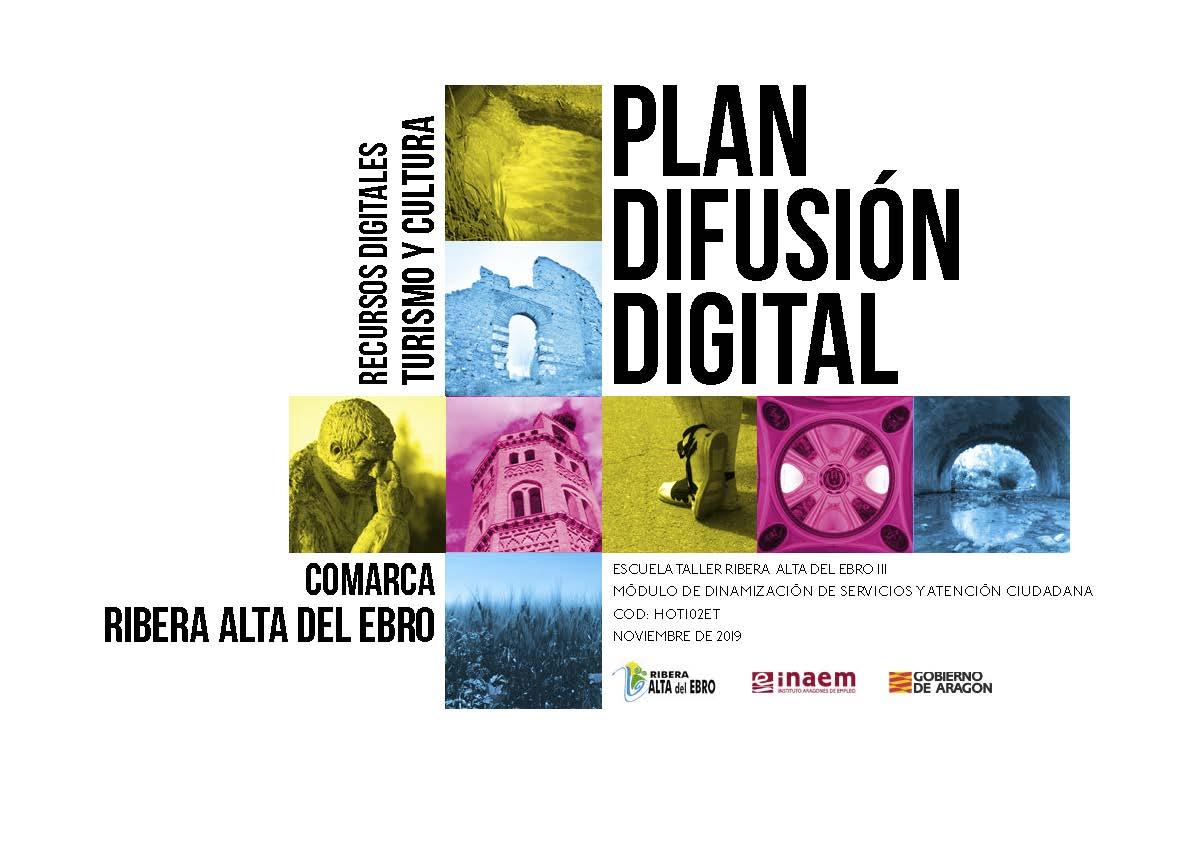 Portada del Plan de Difusión Digital del Proyecto de la Escuela Taller Ribera Alta del Ebro