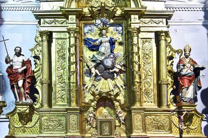Retablo de la Asunción de la Virgen en la iglesia de la Asunción de Nuestra Señora en Bárboles