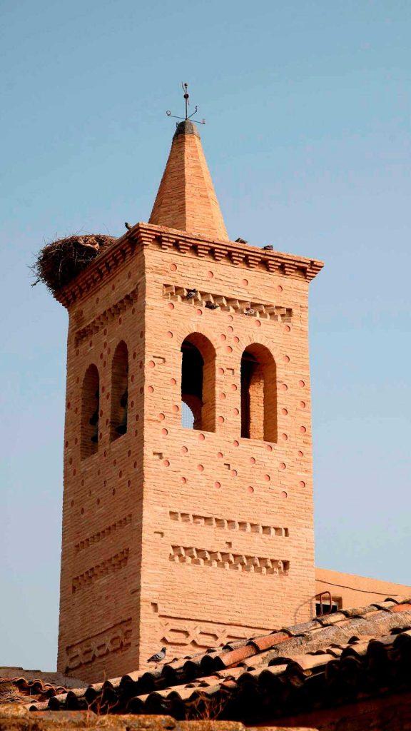 Torre mudéjar de la iglesia parroquial de la Asunción de Nuestra Señora de Bárboles