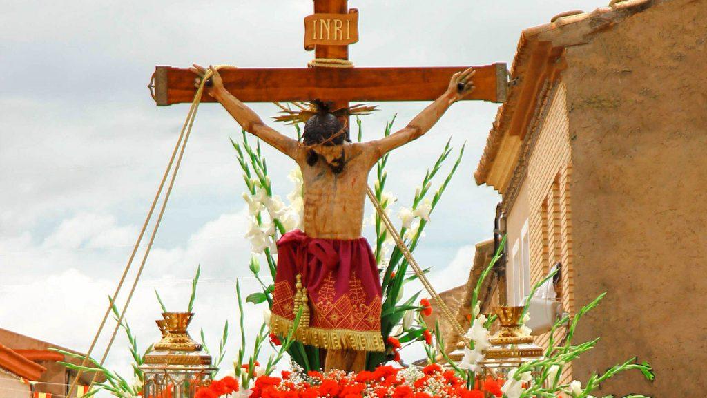 talla en madera del santo Cristo de la Capilla de Boquiñeni
