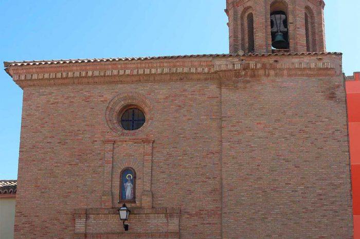 Fachada de la iglesia de la Asunción de Nuestra Señora en Figueruelas