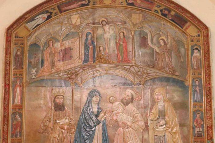 Retablo de la Presentación de Jesús en el Templo de la iglesia de la Purificación de Nuestra Señora en Luceni