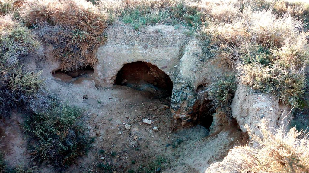 Resto arqueológicos del yacimiento de El Calvario en Luceni