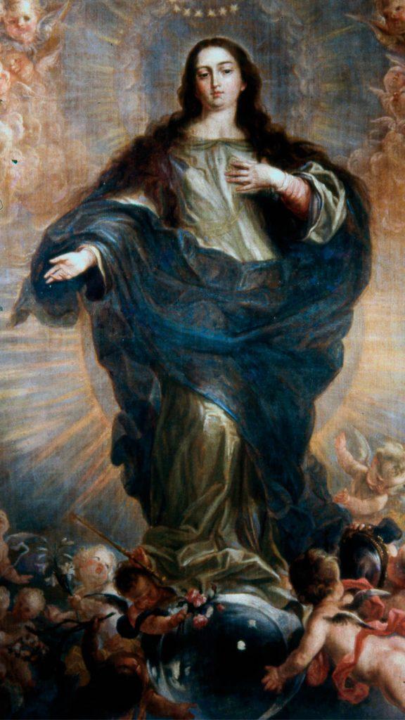 Inmaculada de Juan Carreño de Miranda en óleo sobre lienzo.
