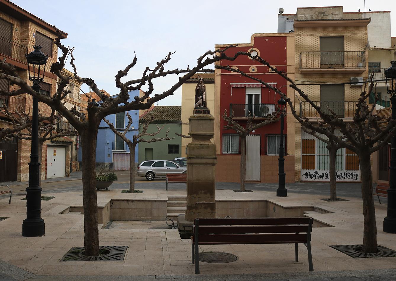 Imagen actual en plaza de San Roque en Pedrola