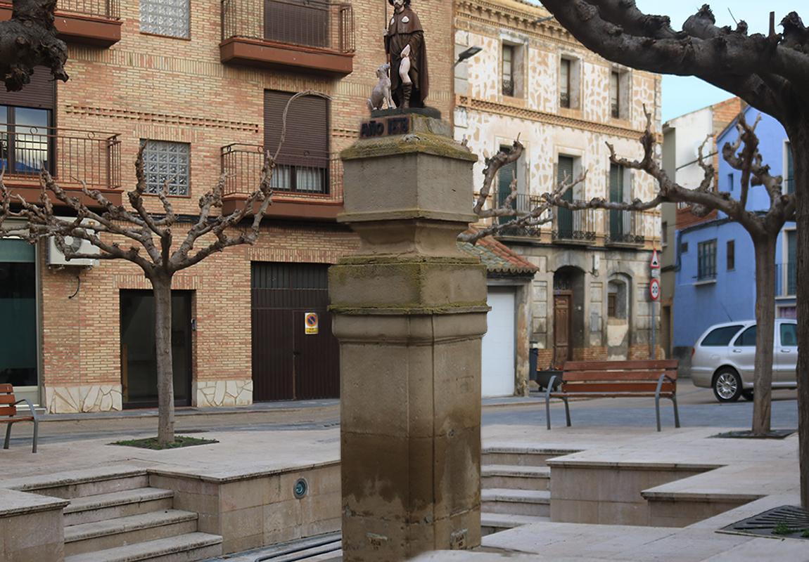 Imagen actual de la fuente de San Roque en Pedrola