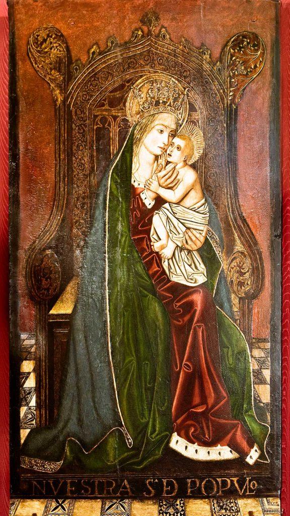 Tabla gótica de la Virgen del Pópulo de la iglesia de San Martín de Tours en Grisén