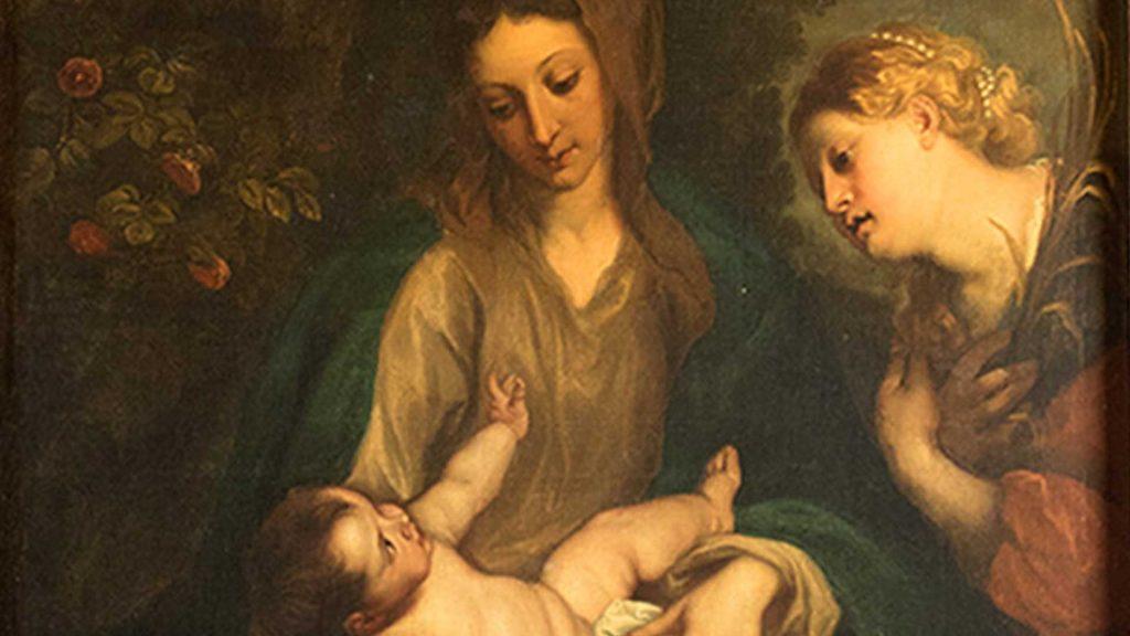 Pintura de Antonio van Dyck antiguamente ubicada en el retablo de la capilla de Urquía de Pedrola.