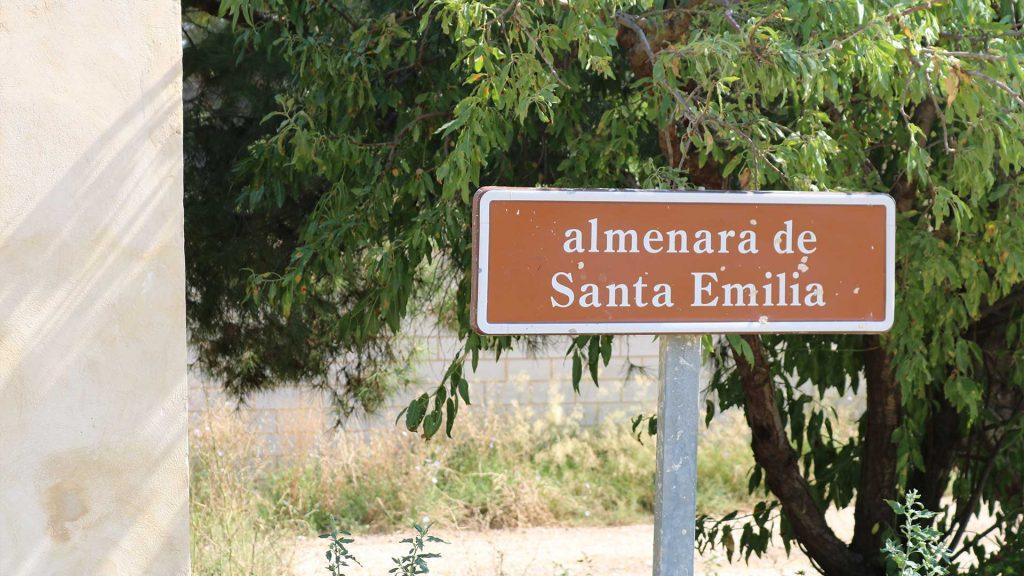 Detalle de la almenara de Santa Emilia del Canal Imperial de Aragón en Pinseque