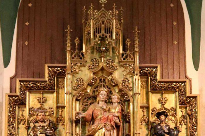 Retablo de la Virgen de los Ángeles en la iglesia de San Pedro Mártir de Verona en Pinseque