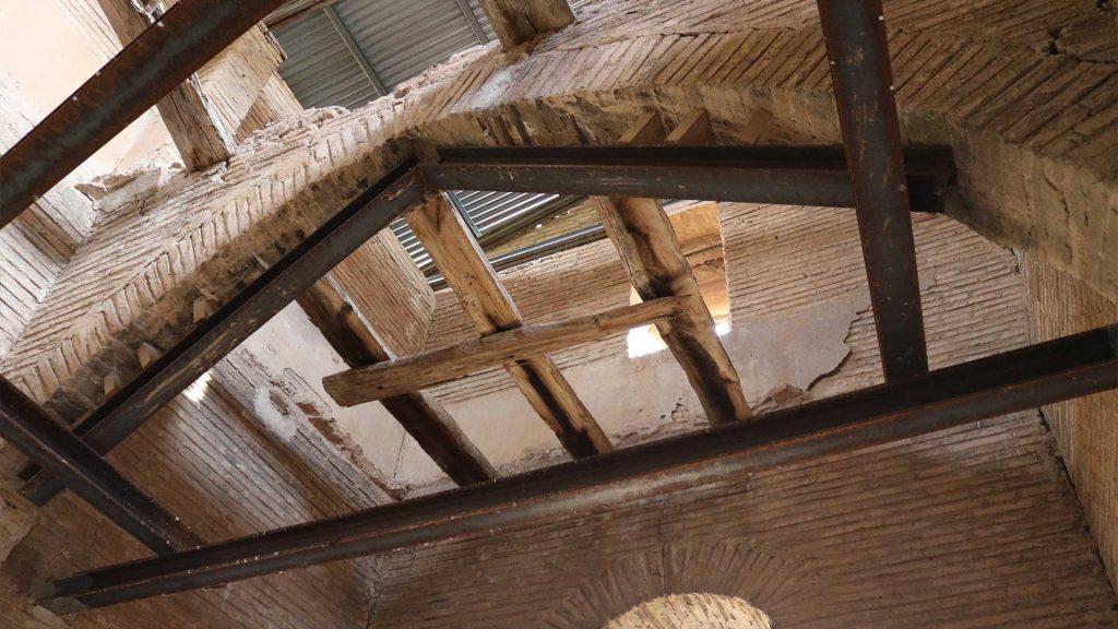 Interior del torreón señorial en Pleitas
