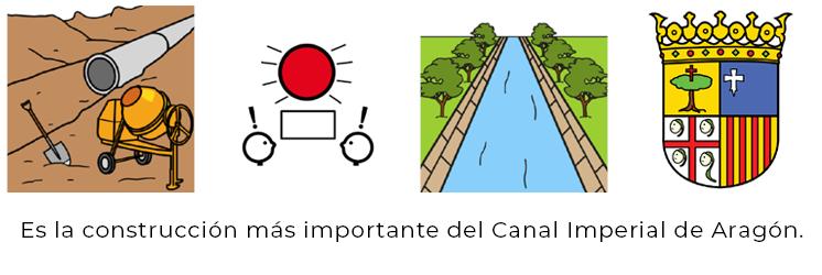 Es la construcción más importante del Canal Imoperial de Aragón.