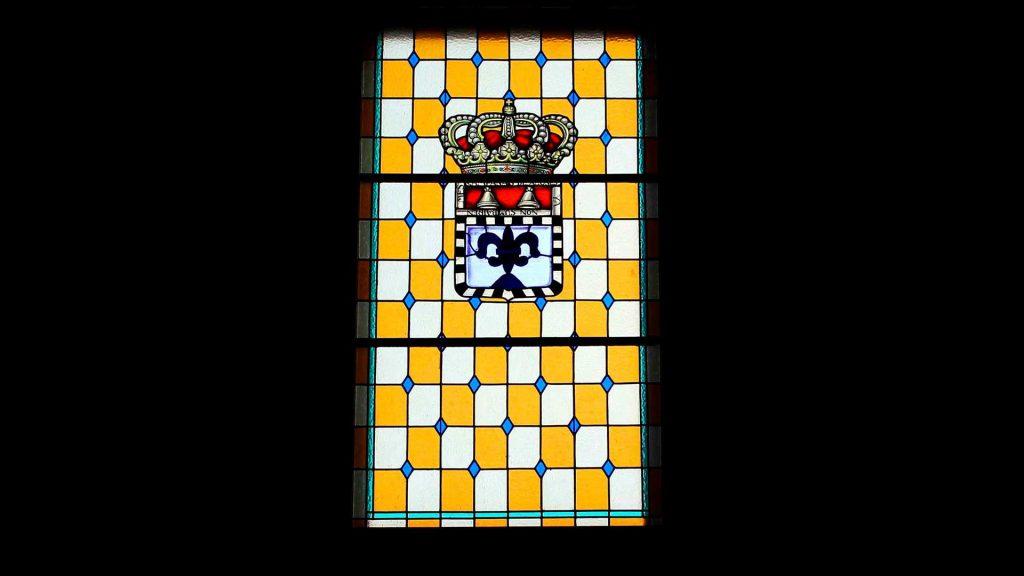 Vidriera del palacio del conde de Sobradiel en Sobradiel