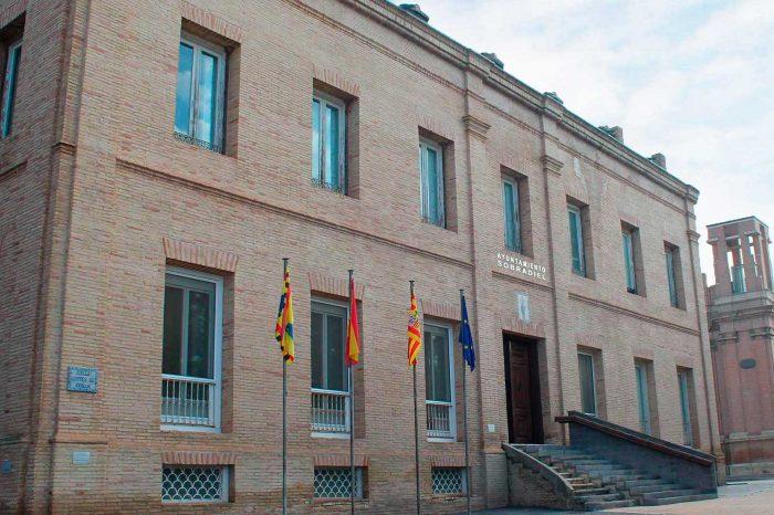 Fachada del palacio del conde de Sobradiel en Sobradiel