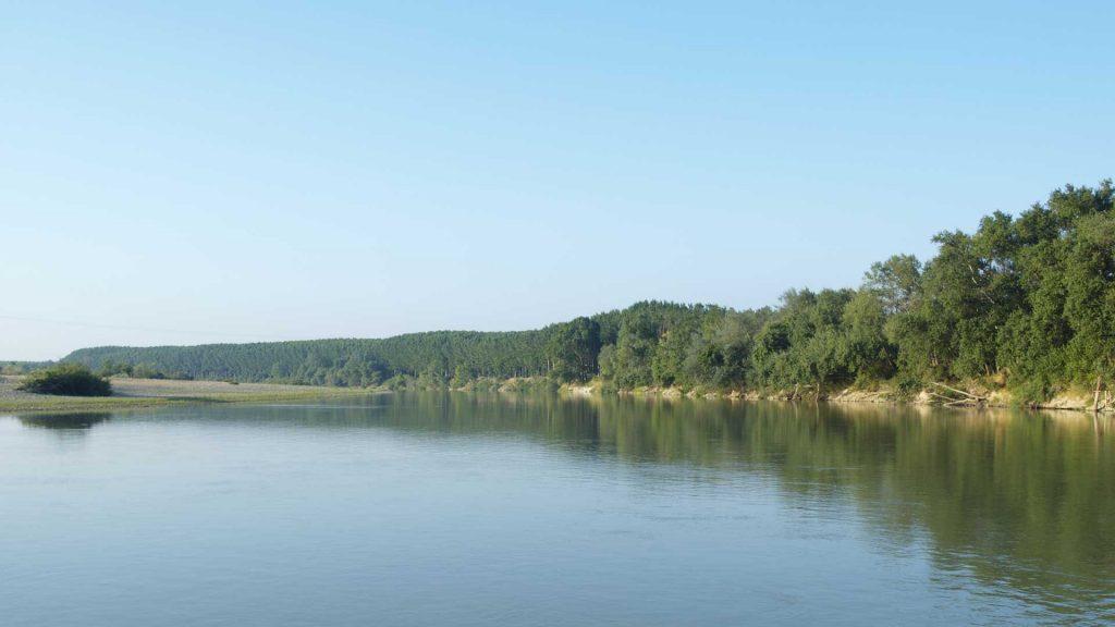 Vista del Ebro a su paso por Sobradiel